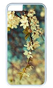 Vintage Flower DIY Hard Shell White iphone 6 plus Case Perfect By Custom Service