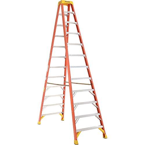 Werner T6212 Twin Step Ladder, Fiberglass