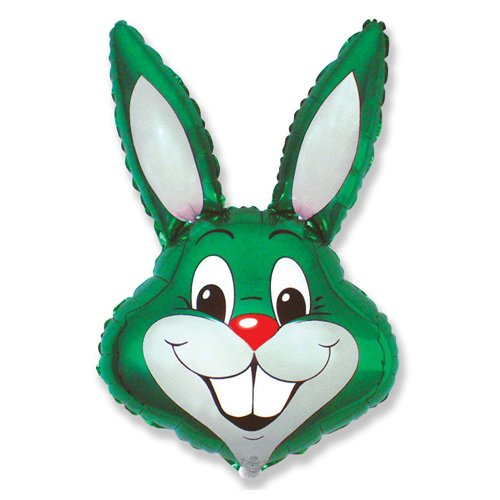 LA Balloons Foil Balloon 901589-GRN Rabbit - Green, 35
