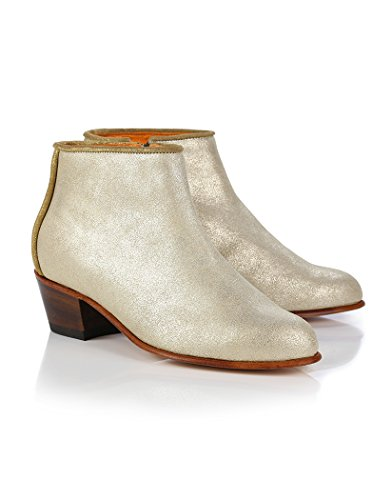 Penelope Chilvers Women's Pablo Metallic Sheen Short Boots - Gold MVHYwyL7y