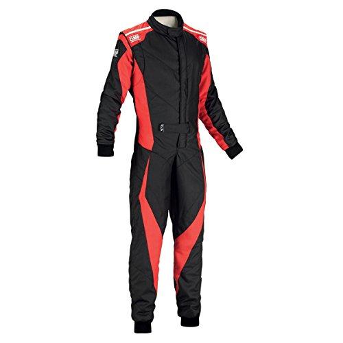 OMP Tecnica Evo Racing Suit IA01857 (Size: 52, Black/Red)