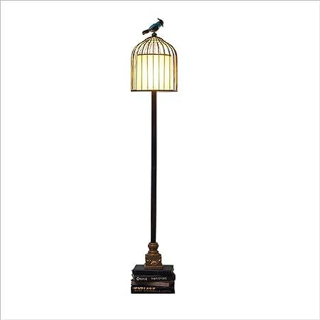 Floor Stand Lights - Lámpara de pie con Marco de Jaula de pájaros ...