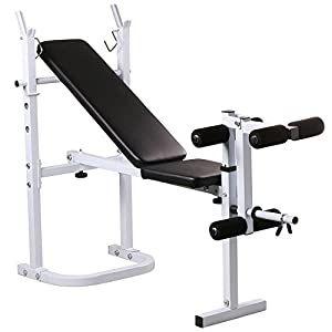 Yaheetech Weight Bench Fitness Workout Home Exercise Adjustable Incline Press
