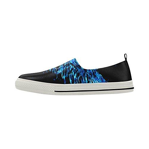 Sneaker Da Uomo In Microfibra Slip-on Personalizzato Blu Aquila Astratto D-story