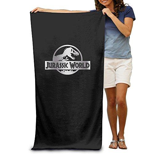 "Jurassic World Black A Platinum Logo 31.5""51"" Beach Towel"