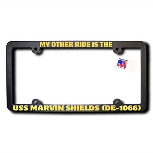 My Other Ride USS MARVIN SHIELDS (DE-1066) METALLIC GOLD TEXT Frame (Shields Uss Marvin)