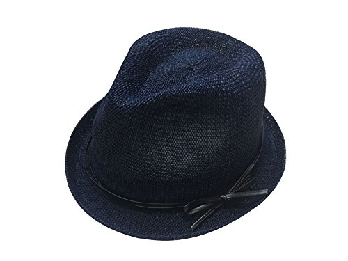 ACVIP Women's Cotton Summer Woven Fedora Trilby Hats 8 Colors (navy)