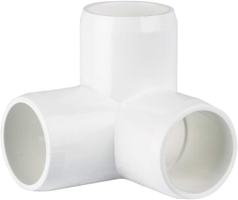"""CIRCOPACK 3/4"""" PVC Fitting Connectors Furniture Grade (2 pieces) (3-Way L)"""