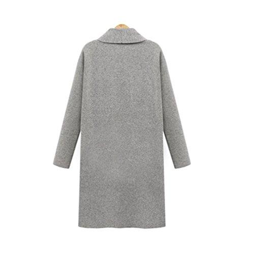 pour ouverture de FeiXang gris frontale femmes Cardigan XL avec gris 6dwxpqWTg