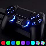 eXtremeRate Multi-Colors Luminated D-pad Thumbsticks Face Buttons (DTF) LED DIY Kit with Classical Symbols Buttons Set for PS4 Controller Universal - 7 Colors 9 Modes Touch Control (Color: Multi-Colors DTF LED Kit (1))