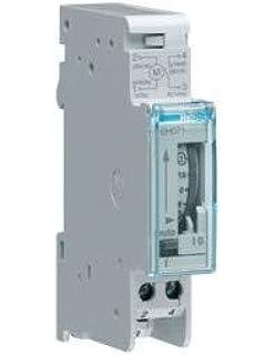 Hager EH011 - Interruptor horario esfera diaria, 16A, 1 contacto NA, con reserva