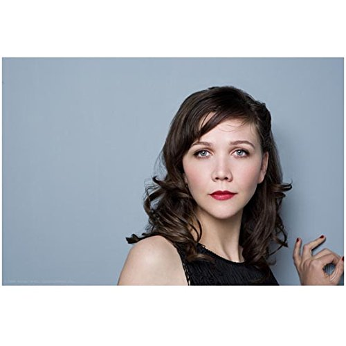 Maggie Gyllenhaal Close Up Wearing a Black Dress and Painted Nails 8 x 10 Photo ()