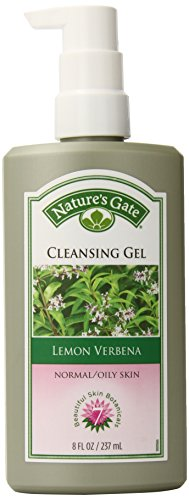 Nature's Gate Lemon Verbena Cleansing Gel for Normal/Oily Skin, 8 Ounce - Lemon Verbena Natures Gate