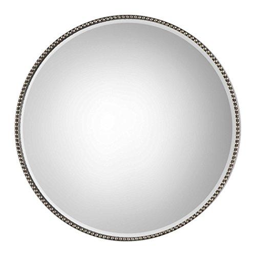 (Uttermost 09252 Stefania Lightly Antiqued Silver Leaf Wall Mirror)