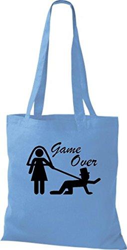 Azul Algodón Bolso Mujer Para Shirtstown De Claro Tela dBtxvwYq