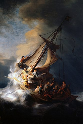 Rembrandt Christ in The Storm On The Sea of Galilee Art Print Poster 12x18 -