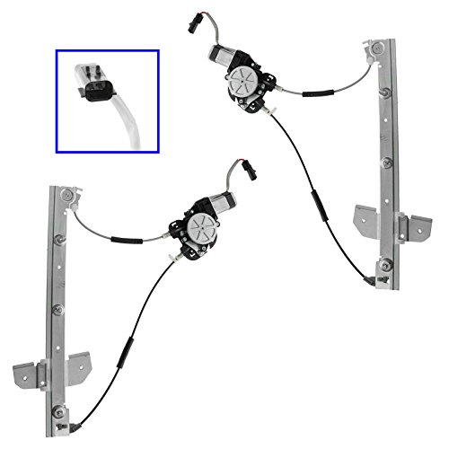 Power Window Regulator w Motor Left & Right Pair Set for 98-03 Dodge Van B1500