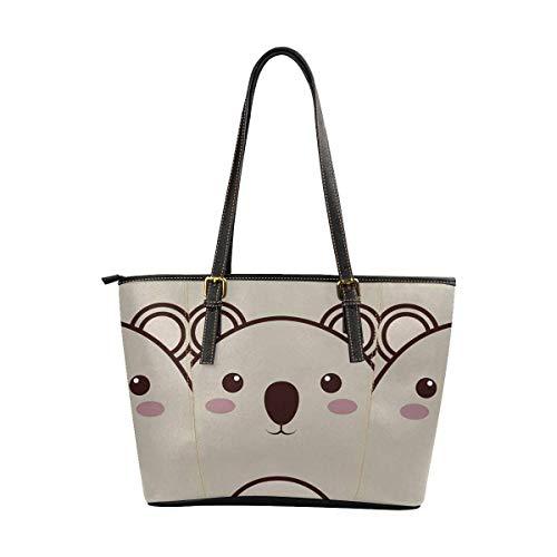 InterestPrint Womens Handbags Ladies Purses Shoulder Bags Tote Bag Koala