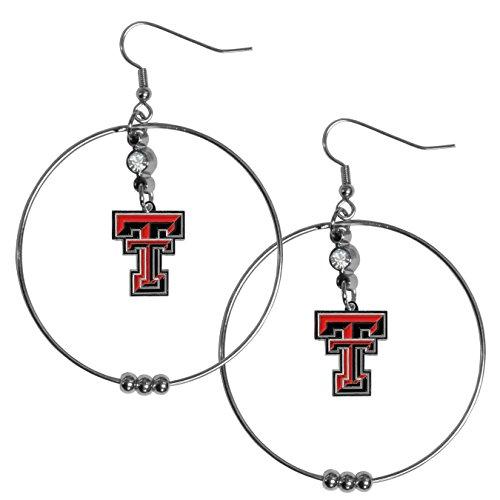 Siskiyou NCAA Texas Tech Red Raiders 2 inch Hoop Earrings
