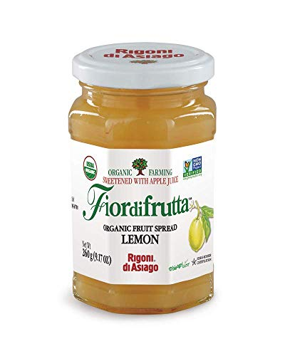 Lemon Asiago - Rigoni di Asiago Fiordifrutta Organic Fruit Spread, Lemon, 6 Count