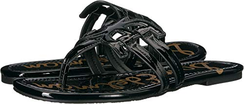 Sam Edelman Women's Cara Sandal, Black Patent, 9.5 M US