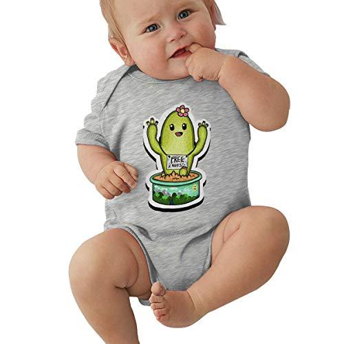 Dejup Unisex Baby Short Sleeve Bodysuits Cactus Free