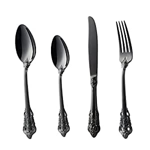 Stainless Steel Italy Cutlery Set 4 Pieces Service for 1 Silver