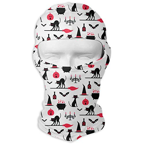 UV Protection Face Mask for Cycling Outdoor Sports Full Face Masks Halloween Pumpkin Cat Candle Red Balaclava Hood Skullies -