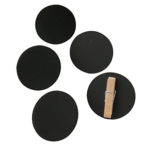 Big Chalkboard Circles - Ivy Lane Design Not- Not-Aplicable Chalkboard Clips, Mini Circle, 10-Count