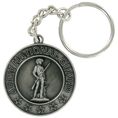 Army National Guard Antique Satin Pewter Key Chain - Pack of 6