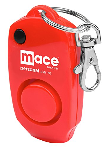 Mace Brand 130 dB Personal Alarm with Built-in Backup Whistle and Bag Purse Clip Red Model 80458