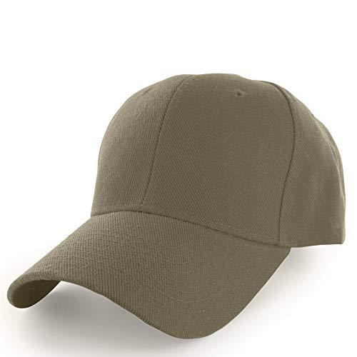 KANGORA Plain Baseball Cap Adjustable Men Women Unisex | Classic 6-Panel Hat | Outdoor Sports Wear (20+Colors) (Khaki) ()
