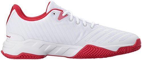 adidas Performance Herren Barricade Court 3 Tennisschuh Weiß / Matt Silber / Scarlet