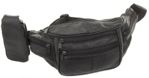 Leather Waist Hip Fanny Pack Bag with Cell Phone Pocket, Outdoor Stuffs