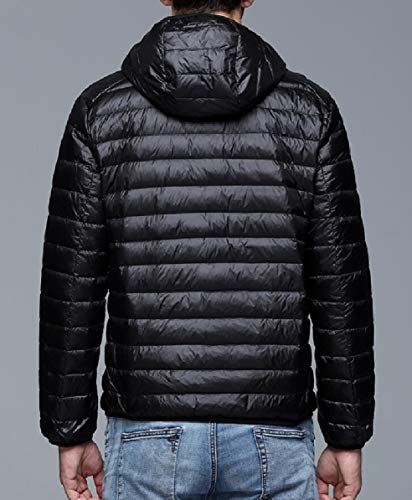 Black Mens Windproof Puffer Winter Insulated Hooded security Jacket Coat Down fxwRq
