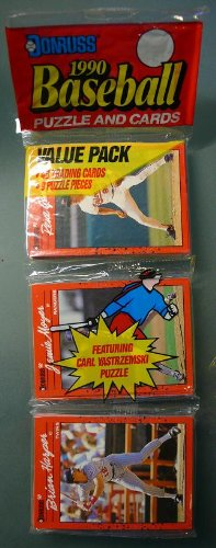 (1990 - Donruss - Baseball Cards - Rack Pack - 48 Baseball Trading Cards)