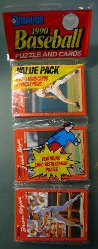 1990 - Donruss - Baseball Cards - Rack Pack - 48 Baseball Trading Cards