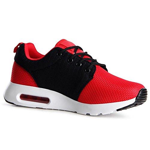 Nero Topschuhe24 Sneaker Topschuhe24 Donna Rosso Donna FqXdvq