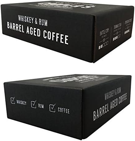 Coopers Cask Coffee Whisky & Ron barril envejecido café grano Box Set, 3 bolsas, dechado de café juego - 12 Oz