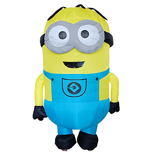 MUST ROSE SPORTS AND HOMEWEAR Inflatable Blow Up Animal Adult Children Fancy Dress Costume (Large, Minions)