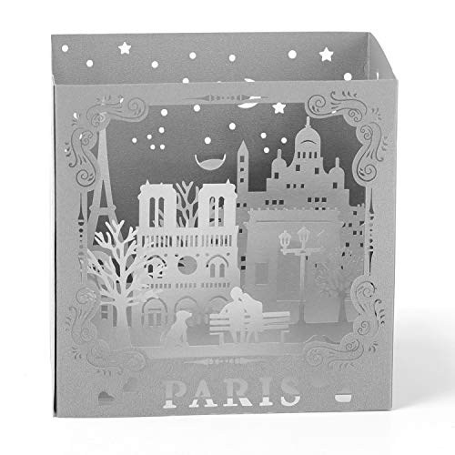Paper Spiritz Paris Pop up Birthday Card, Graduation, Wedding Anniversary, Laser Cut 3D pop up card Love all Occasion, Handmade Thank You Greeting Card for Kids Baby