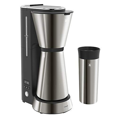 WMF Küchenminis Aroma – Cafetera con termo, 5 tazas, cafetera de filtro, taza térmica para llevar de 350ml, 870W, temporizador de 24 horas, apagado automático gris