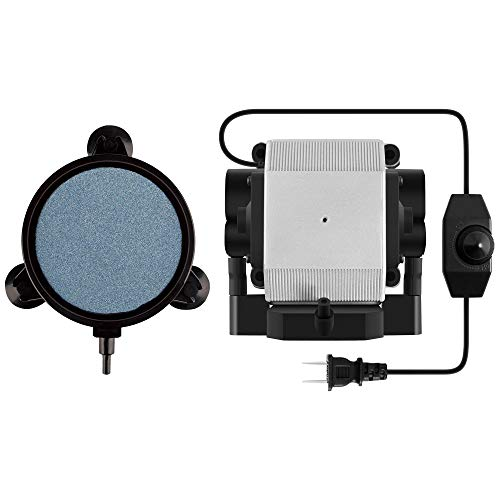 VIVOSUN332GPH 공기 펌프 14W4 출구 및 포탄과 빨판을 가진 4 인치 공기 돌 원판