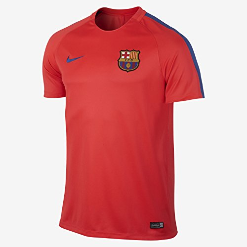 f5a6ca0ce Nike Men s Dry FC Barcelona Training Top (Large) Bright Crimson