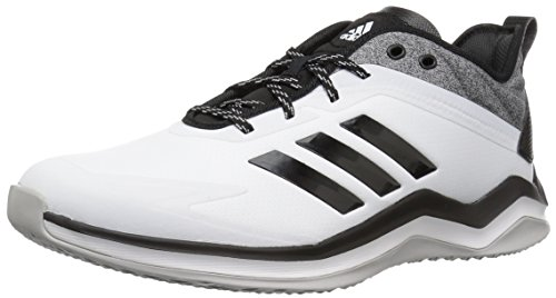 (adidas Men's Speed Trainer 4 Baseball Shoe, Crystal White/Black/Carbon 1758, 10 M US)