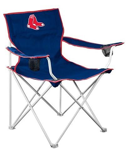 Amazon Com Mlb Boston Red Sox Deluxe Folding Chair Sports Fan
