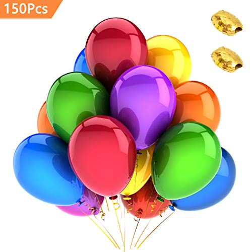 Assorted Latex Jewel Balloons - (150 Packs) AOYOO Party Balloons 12-Inch Color Set, Balloon Decoration, Quality Latex Balloons for Birthday Wedding Party Home Decoration, Colorful Helium Balloons Make Your Event More Colorful