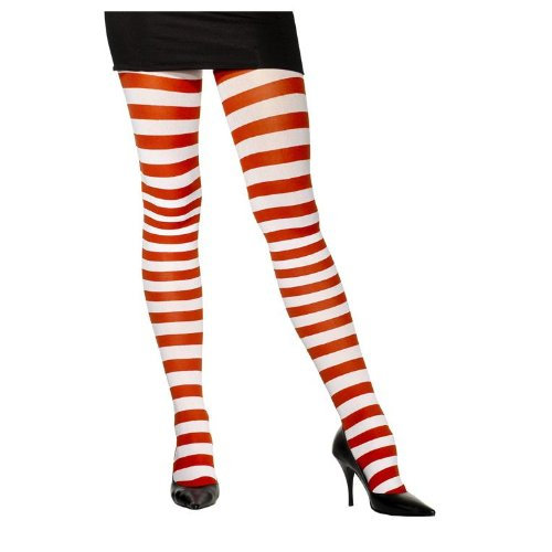 Smiffys 157351 Candy Cane Tights Adult
