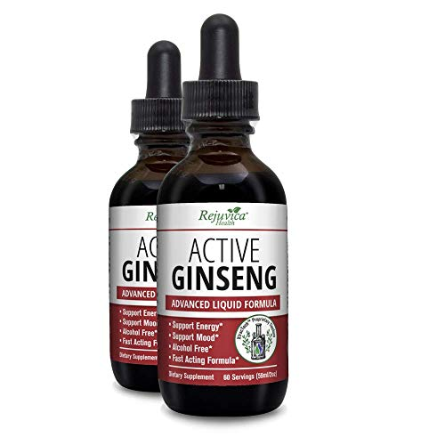 Active Ginseng – Real Red Ginseng – All-Natural Liquid Solution for 2X Absorption – Supports Healthy Energy, Vitality, Mood and More