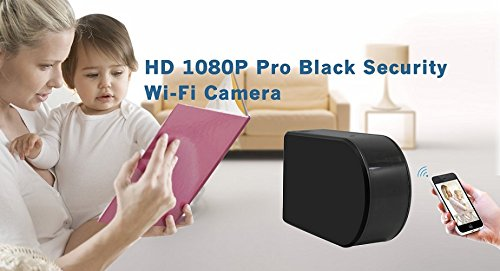 Wireless Hidden Spy Camera | 1080P HD Portable WiFi Security Cam with 180 Degree Rotating Lens, Live Remote Viewing, AC/Battery Powered, Motion Detection and Loop Recording. Black Box Hidden Camera by Sebah (Image #6)